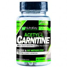 Nutrakey Acetyl L-Carnitine, 60 Capsules